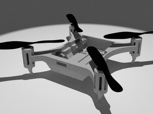 Nanocopter Frame in White Strong & Flexible Polished