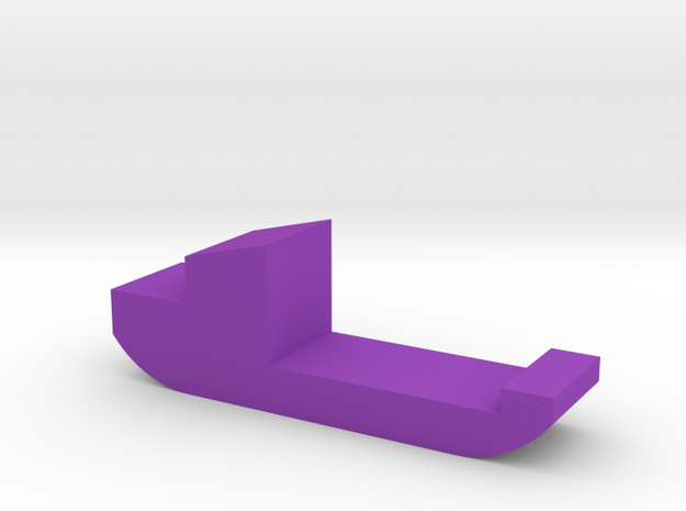 Freight Ship Game Piece in Purple Strong & Flexible Polished