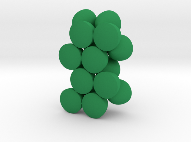Solids Of Constant Width (1cm) in Green Strong & Flexible Polished: 1:16