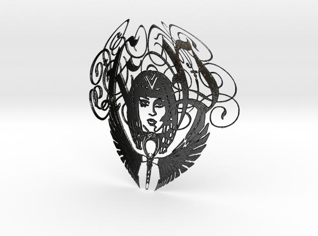 Katy Perry Pendant ((((((Dark Horse)))))) in Matte Black Steel