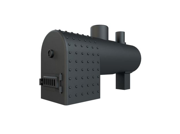 Horizontal boiler (stationary) HO Scale in Smoothest Fine Detail Plastic