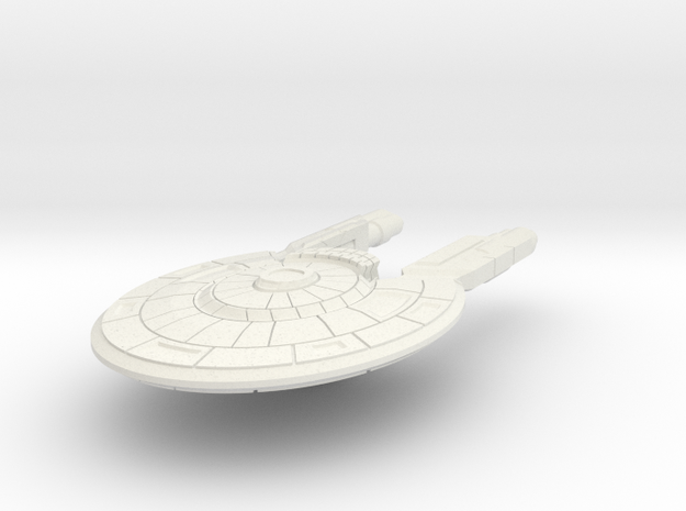 Colonial Corvette Carrier (No Turrets) in White Natural Versatile Plastic