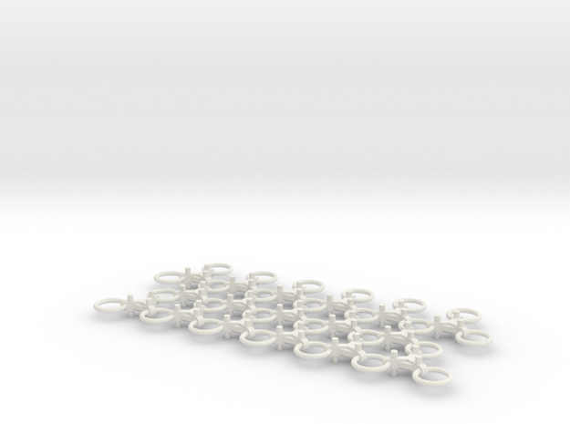 Chain Harrow Small 1/32 - Chains  in White Strong & Flexible