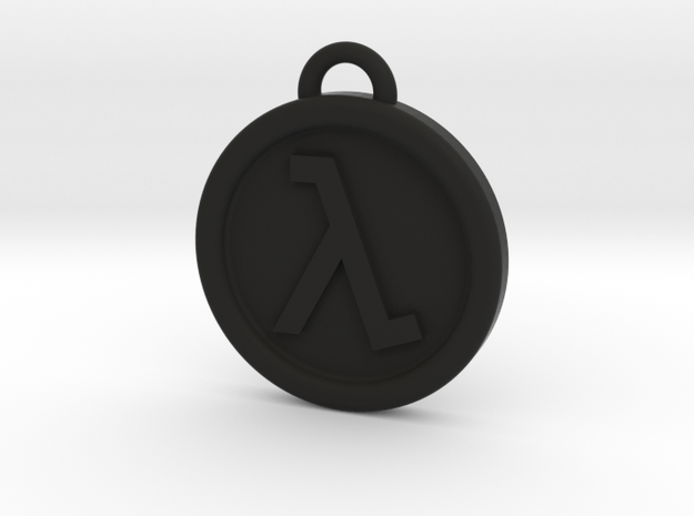 Half-Life Logo Keyring Keychain FOB in Black Natural Versatile Plastic