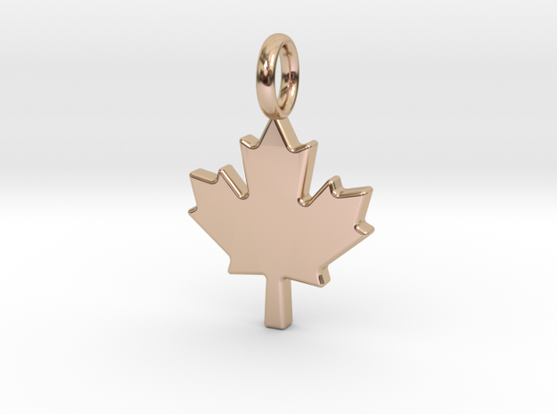 The Maple Leaf - Pendant in 14k Rose Gold Plated Brass