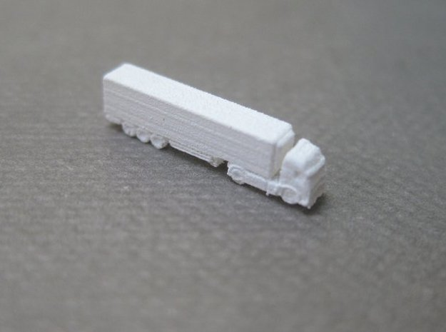 Refrigerated Lorries (1:1250) x8  in Smooth Fine Detail Plastic: 1:1250