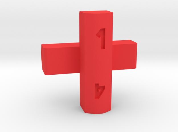 Cross d4 in Red Processed Versatile Plastic