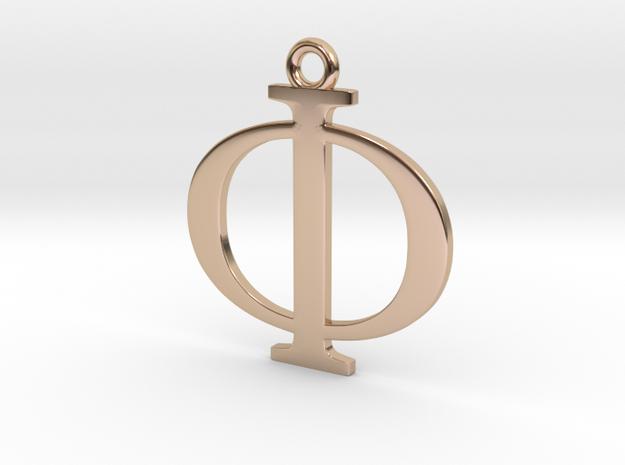 Phi Golden Ratio Pendant