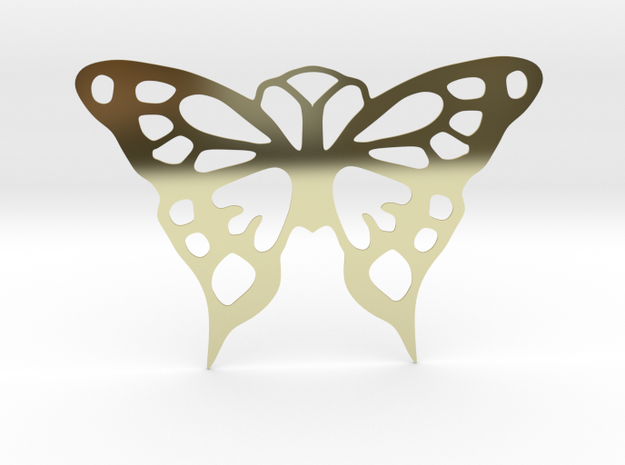 Butterfly Pendant in 18k Gold Plated Brass