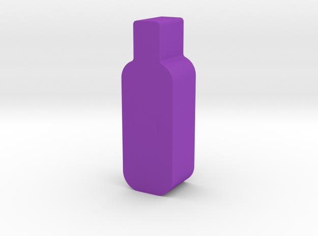 Wine Bottle Game Piece in Purple Processed Versatile Plastic