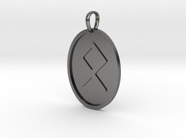 Othala Rune (Elder Futhark) in Polished Nickel Steel