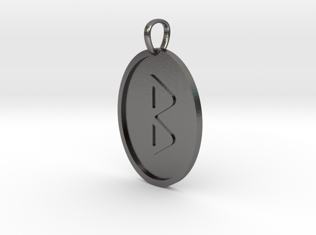 Berkana  Rune (Elder Futhark) in Polished Nickel Steel