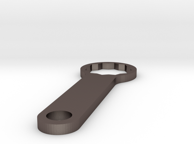 mod maker mm510 connector spanner 14mm in Polished Bronzed Silver Steel