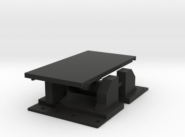 SCX-10 Rear Mount Nest for 4dr JK Hardbody in Black Natural Versatile Plastic