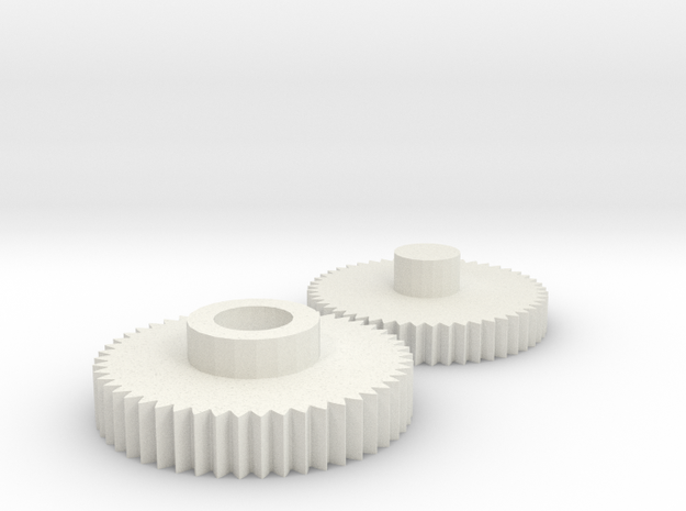 M240 Box Mag Gear Replacement Set (v1) in White Strong & Flexible