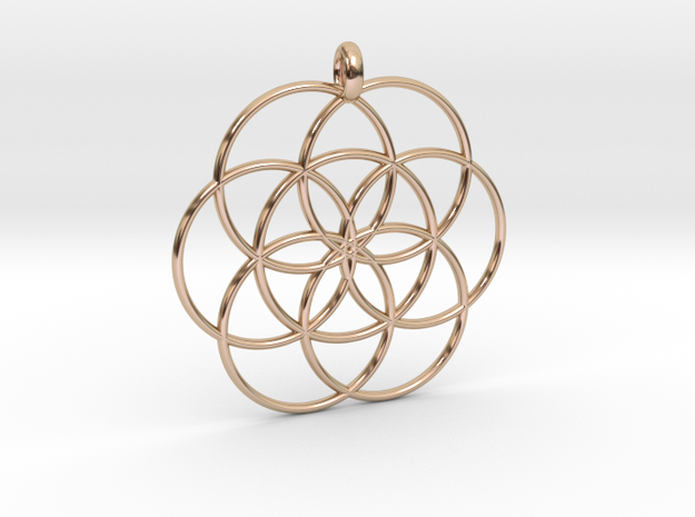 Flower of Life - Hollow Pendant