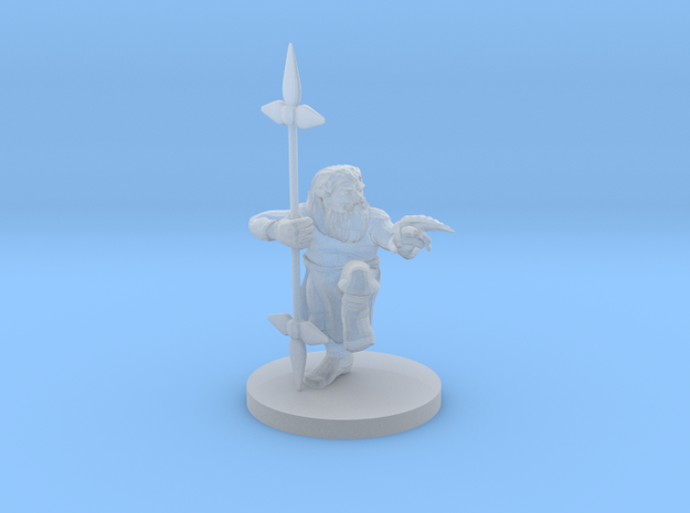 Dwarf Monk / Weaponmaster in Smooth Fine Detail Plastic