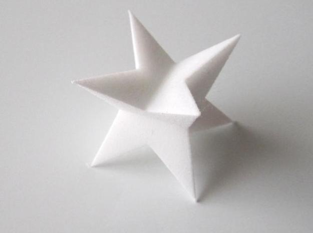 Space Filling Polyhedra 3d printed Anti-Dodecahedron in White Strong and Flexible