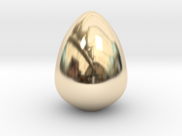 The Golden Egg in 14k Gold Plated Brass: Small