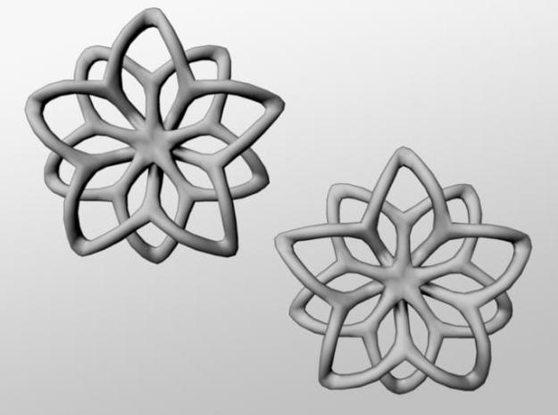 Flower Loops Pair in White Natural Versatile Plastic
