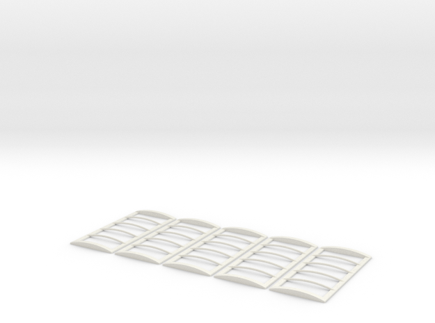 18' Roll Over Tarp Frame - 5 pack in White Natural Versatile Plastic