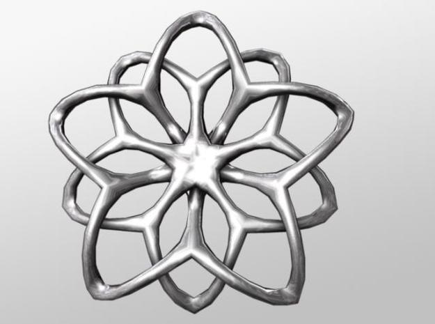 Flower Loops Pendant 3d printed Front