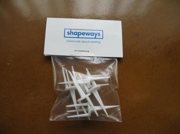 High Performance Golf Tees (5) in White Strong & Flexible