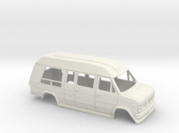 1/35 1988 GMC Vandura Van Shell in White Natural Versatile Plastic