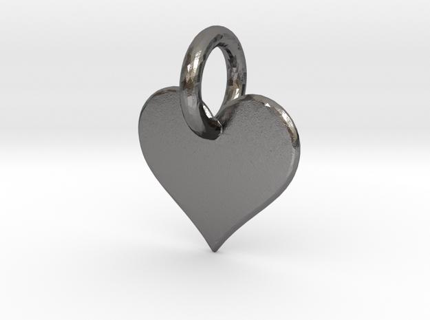 little heart in Polished Nickel Steel