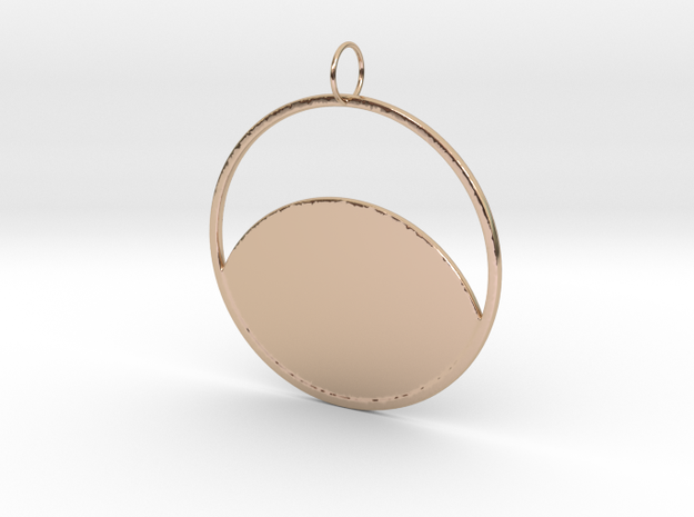 Moon's Reflection in 14k Rose Gold