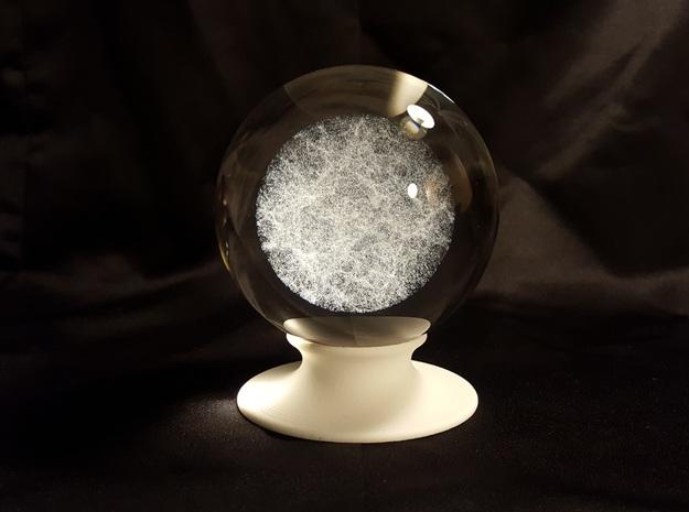 "The Universe Sphere Base ""Round"" in White Natural Versatile Plastic"