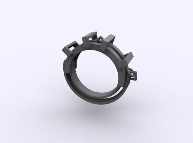 Earring ring 3d printed Description