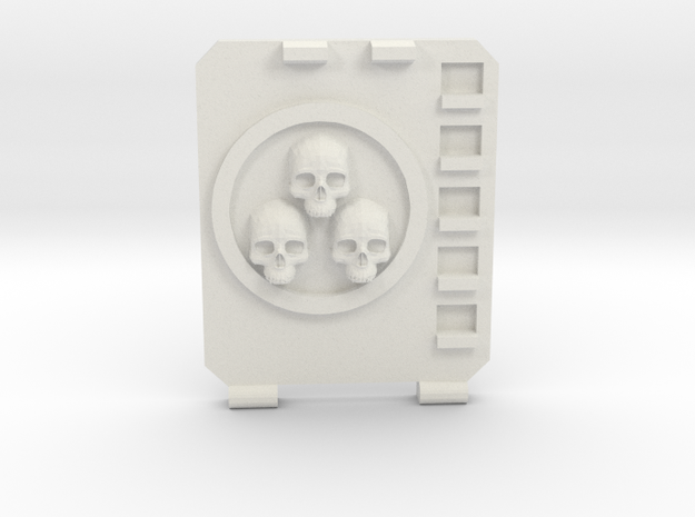 APC hatch Left [Triple  skull] in White Natural Versatile Plastic