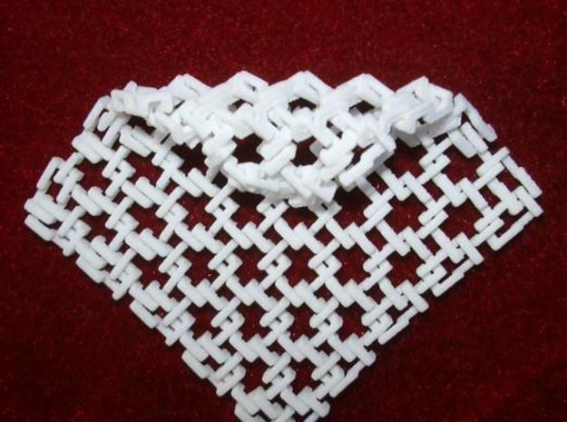 Square Maille - Flat N sampler 3d printed Photo - angle curl