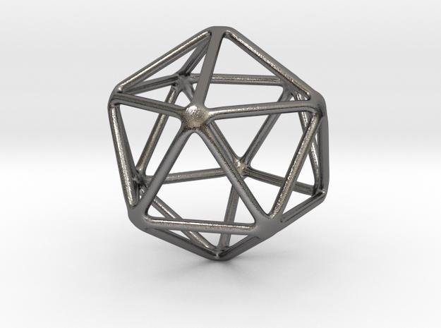 Icosahedron in Polished Nickel Steel