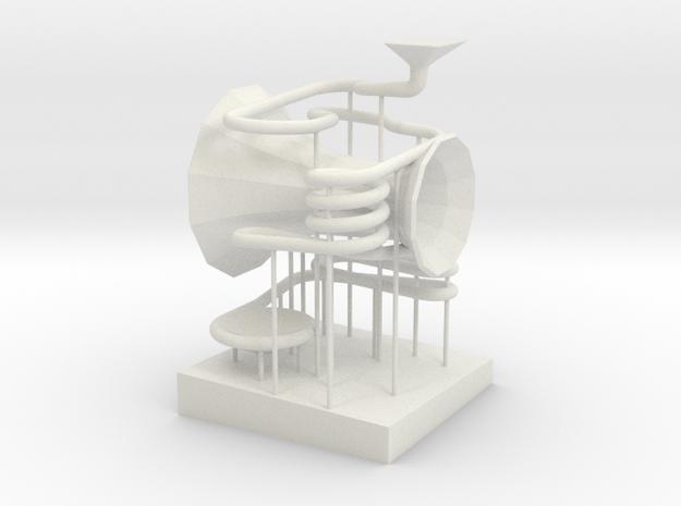 "BK-13: ""Wonderwheel"" by SOFTlab in White Natural Versatile Plastic"
