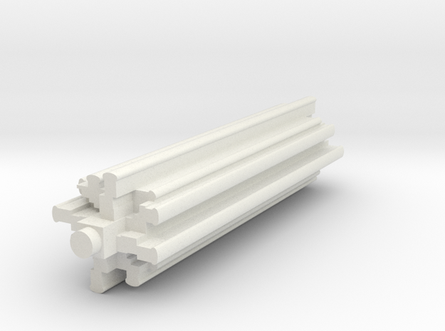 "BX-07: ""Tracy Towers Extrusion"" by Frank Benson in White Natural Versatile Plastic"