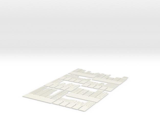 "M-02: ""Pop-Up City"" by Kwong Von Glinow Design Off in White Natural Versatile Plastic"