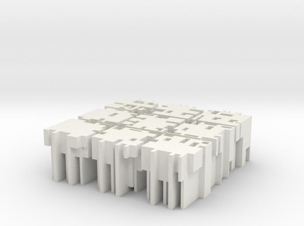 """M-07: """"Urbanism 003"""" by Medium in White Natural Versatile Plastic"""