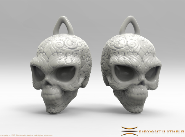 Day of the Dead/ Halloween Skull Earrings  2.5cm