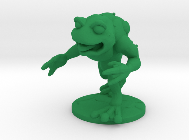 Unemployed Mutant Frog in Green Strong & Flexible Polished: Small