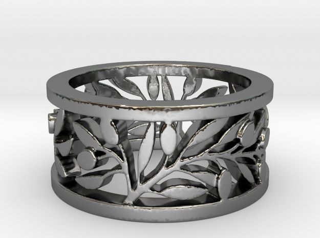 Longs Rameaux Patricia Ring Size 8 in Fine Detail Polished Silver