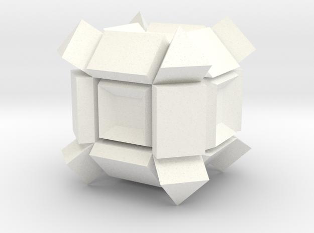 Fantasticube in White Processed Versatile Plastic