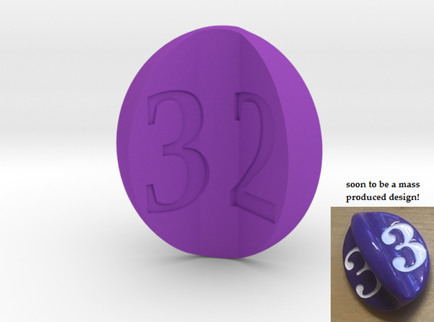 apple d3 (for Impact!) in Purple Processed Versatile Plastic