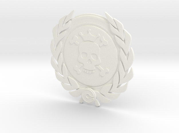 Competitive badge - Death Merchant in White Processed Versatile Plastic