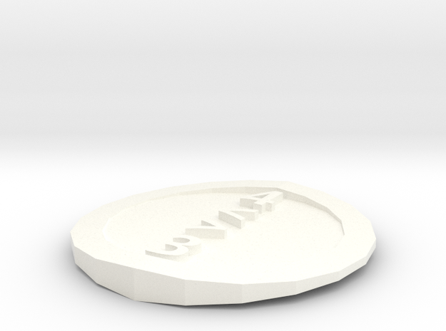 d4 coin in White Processed Versatile Plastic: Small