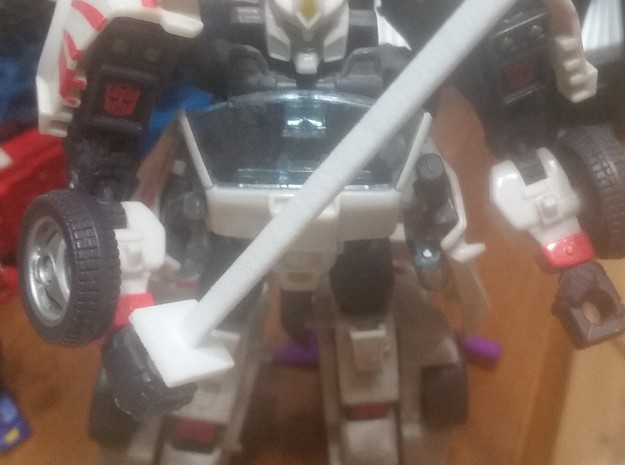 Simple transformers ninja sword in White Strong & Flexible