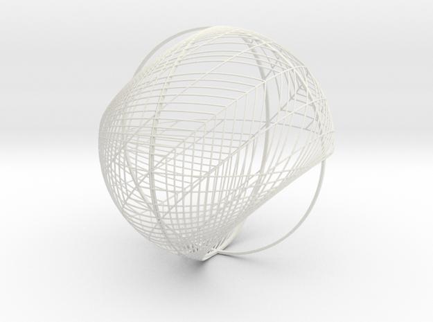 Chandelier Bulb 7 in White Natural Versatile Plastic