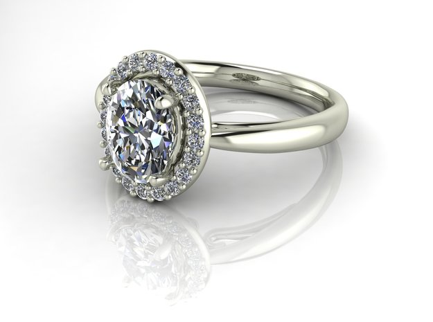 Grace collection 9 NO STONES SUPPLIED in Fine Detail Polished Silver