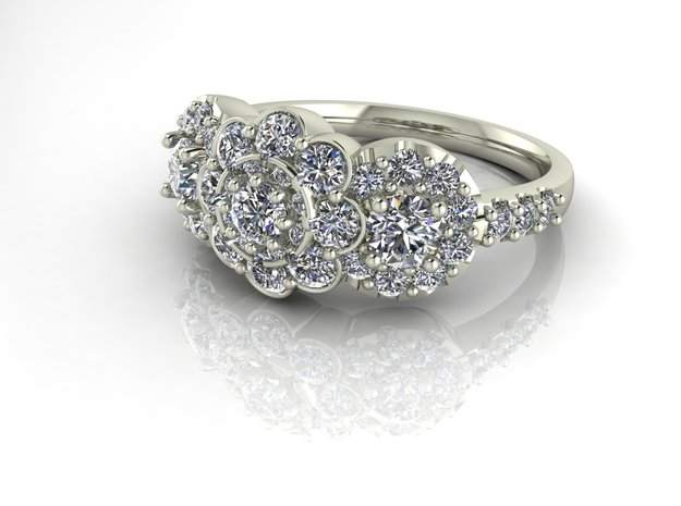 Grace collection 11 NO STONES SUPPLIED in Fine Detail Polished Silver